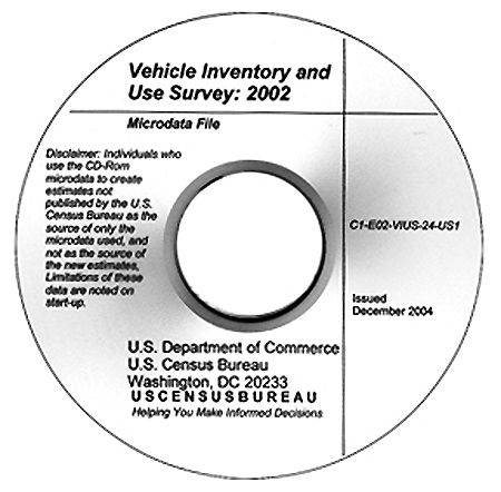 Vehicle Inventory and Use Survey Report CD