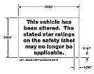 "Altered Supplemental NCAP ""Stars for Cars"" Window Cling"